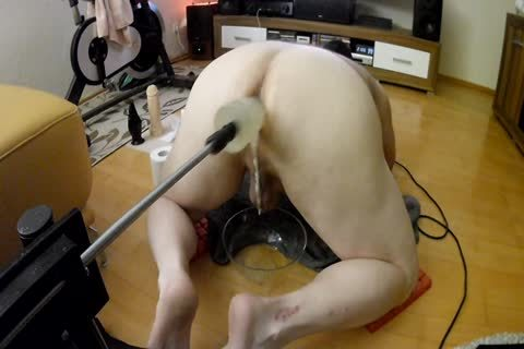 Fuckingmachine And 6 Dildos In A Row! large O Over large O!
