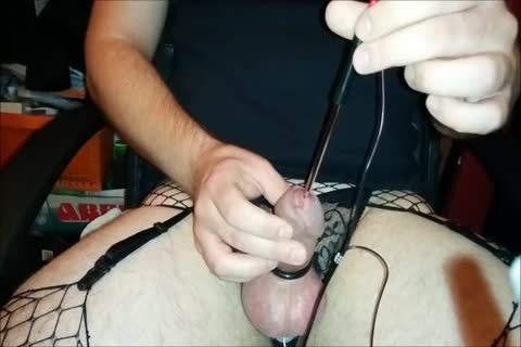 tasty twink In lingerie Cums Twice Electro E-Stim Urethral Sounding