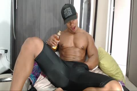 dirty Latino Muscle chap Flexes And Jerks Off On cam In Lycra Shorts