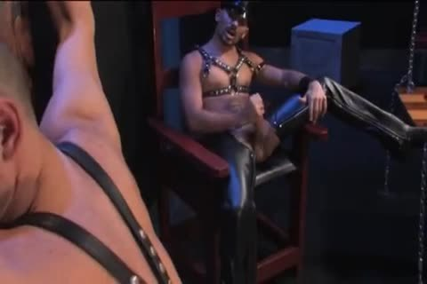 gorgeous Leather group Scene