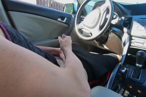 boy Watches Other boy jack off His 10-Pounder In The Car whilst In Public