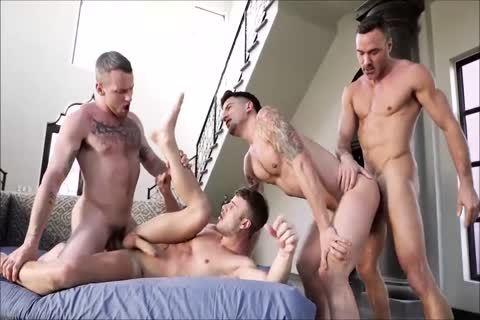 Hunks In excellent bare orgy