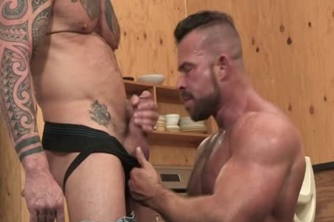 Muscle Beef pounding Vic Rocco And Liam Knox