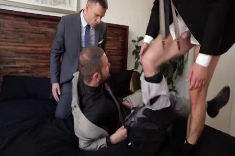 Suit fuck three-some