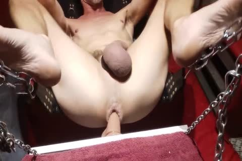 Swinging dildo In The Sling