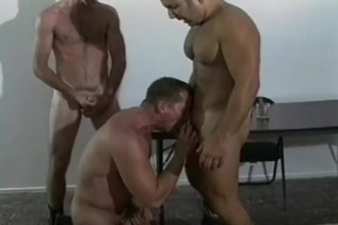 Three Manly Soldiers engulf One another's powerful cocks