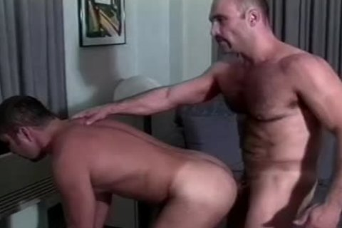 Muscly Hunk pounds A charming arsehole doggy style