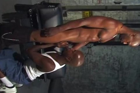 pumped up black Adonis Empties His dong On A moist booty