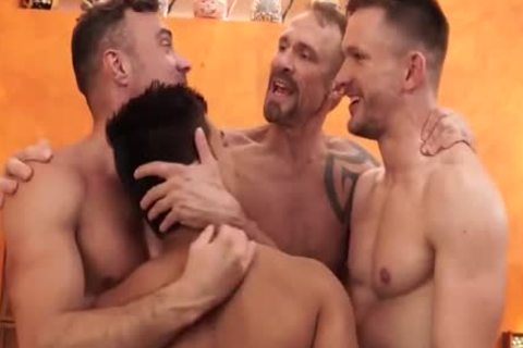 concupiscent Latino homo plowing taut butthole