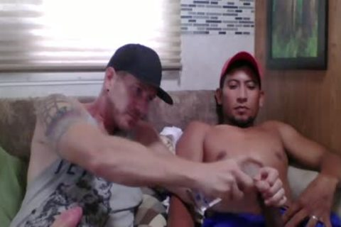 Straight Latino Construction Worker gets First cook jerking From A man (Martin two)