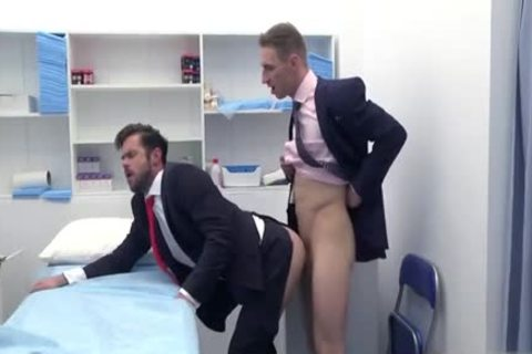 large knob Doctor butt job With cumshot