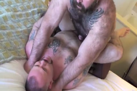 Muscle homo Daddy poke pooper His Son