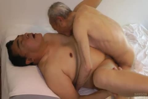 Japanese bulky Daddy Sex With throbbing dick grand-dad