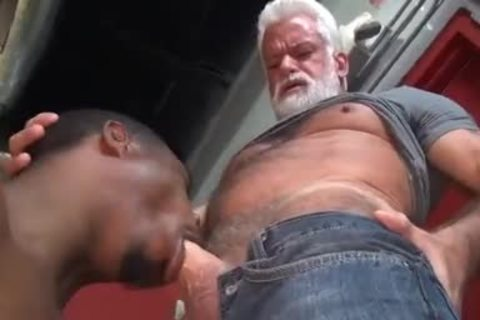 JAKE-SILVER DADDY THE BARBER poke HIS black gap
