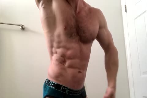 curly Sweaty Chest Flexing
