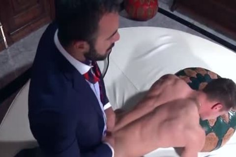 Muscle homosexuals booty stab And ejaculation