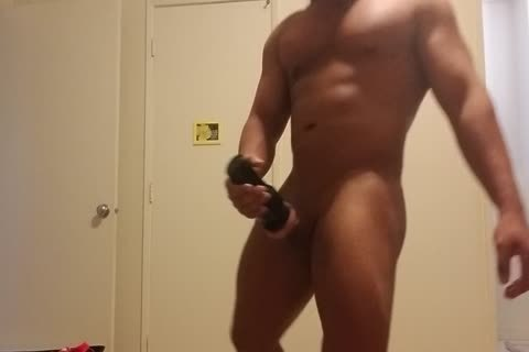 Flesh Light And ramrod Pumping Hard Post Waxing My booty And Balls