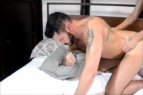 Latino duo Barefuck With big Tattooed penis
