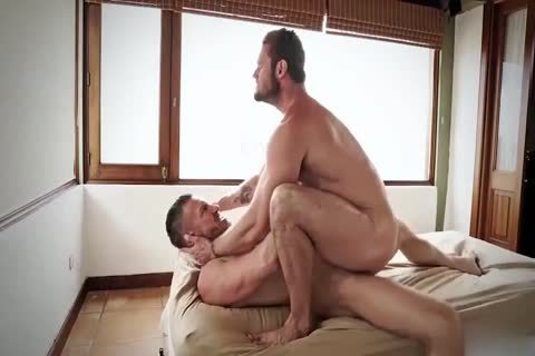 bareback Sex And schlong engulfing With Hunky pumped up homosexual guys