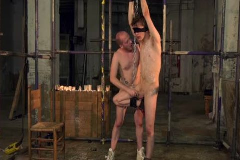 bdsm a bit of butthole And oral joy-service With Blindfolded Restrained twink