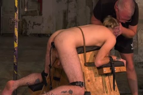 submissive young gay Submits To slavemaster For Clamp Torturing