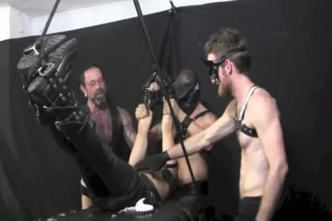 Marky Tickled In Leather
