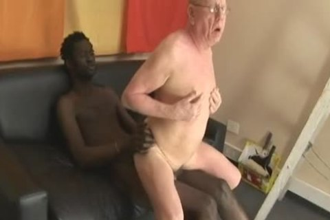 older man engulfing & Getting banged By giant dark dick