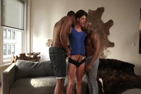 Max, Devin & Andre - Double darksome cocks For Franco