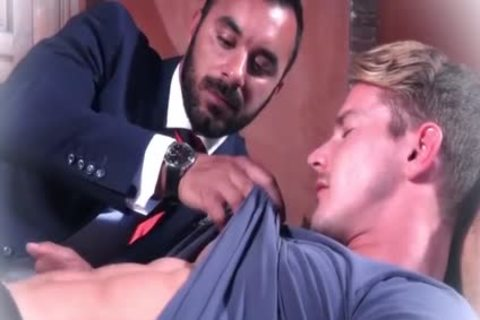 Muscle homosexuals butthole job And cum flow