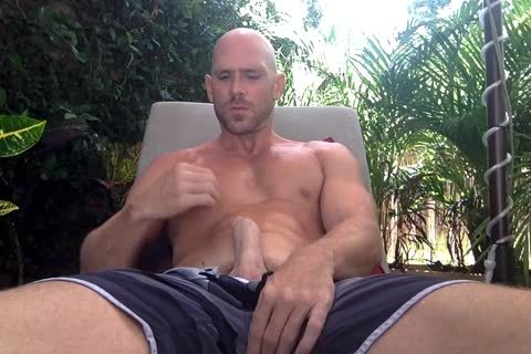 Johnny Sins jerking off His large horny knob