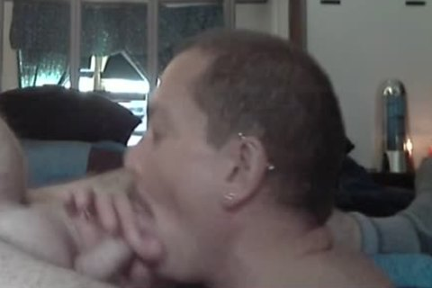 Eating Daddy's gorgeous sperm