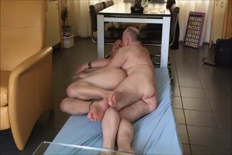 Bald slutty Daddy bonks Younger On The Floor