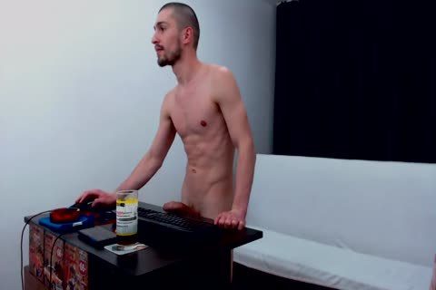 Skinny dude Michael discharges his load