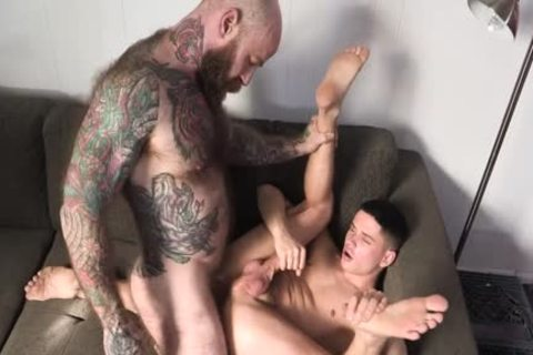 Tattooed Daddy pounds His young Stepson