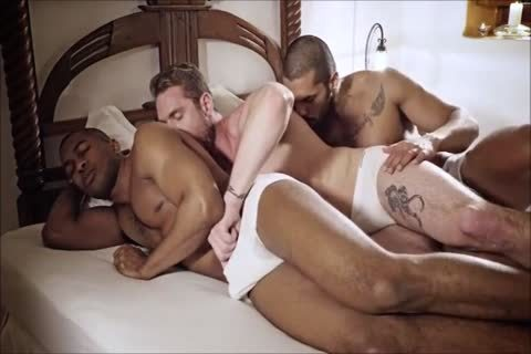 White gay In pretty Action With Two black gays - GayTV