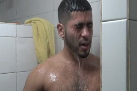 Hung Latino banged In Gym Shower