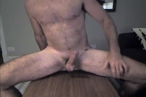 hairy Daddy Rides A dildo And Cums two
