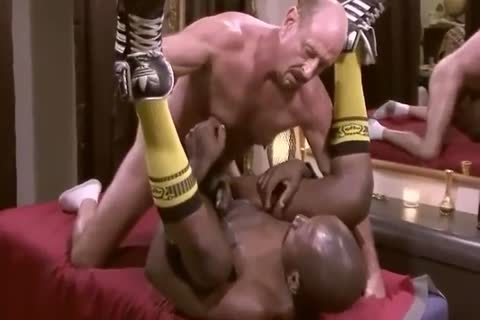 White Daddy Massages And Barebacks black Muscle fellow