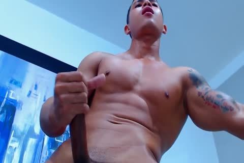 pumped up 20yo Latino lad David Strokes His ramrod And cum