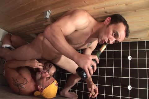 bisexual boyz In A Sauna With naughty brunette hair