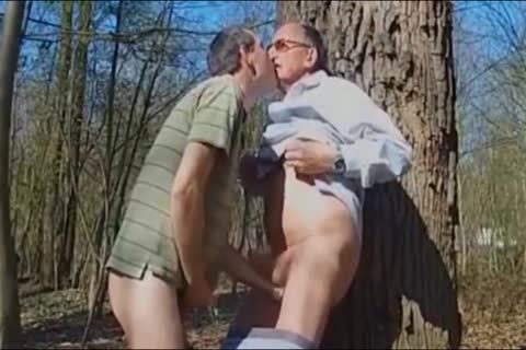 DADDY pounding old man IN THE WOODS 3