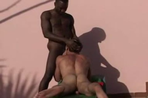 Interracial - darksome and White, admirable pound