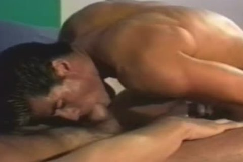 pumped up hunks share hard penises & gangbang fine