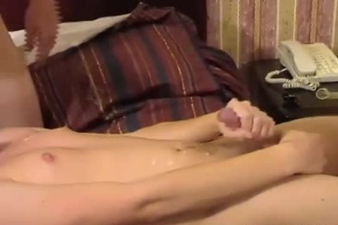 three excited males kiss, suck and pound each other